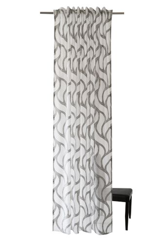 Loop Curtain Homing Waves grey semi-transparent online kaufen