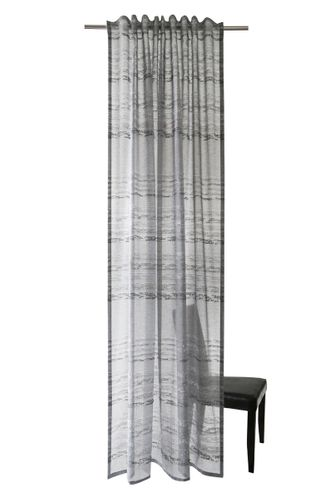 Loop Curtain Homing Stripes grey semi-transparent online kaufen