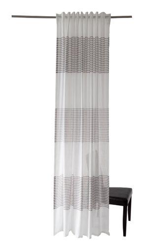 Schlaufenschal Homing Querstreifen grau halbtransparent