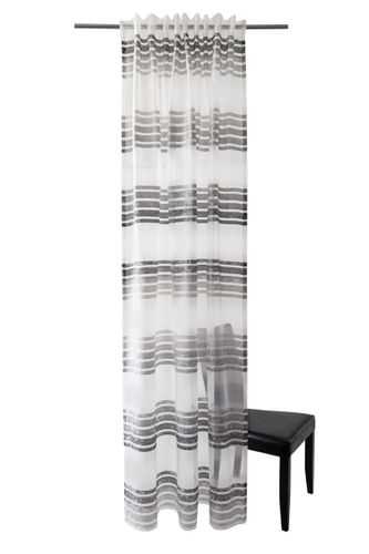 Loop Curtain Homing Stripes anthracite transparent online kaufen