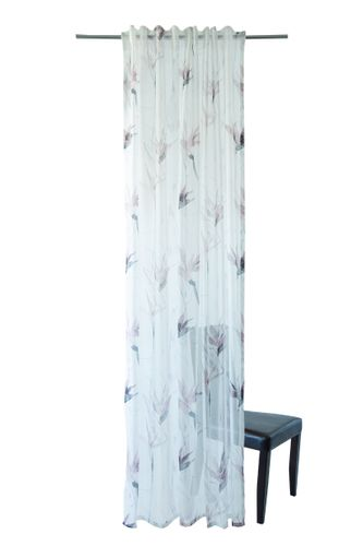 Loop Curtain Homing Floral mauve semi-transparent online kaufen