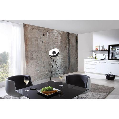 Fototapete Vlies Premium Betonwand Stein grau weiß