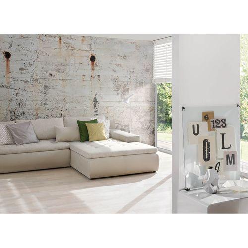 Fototapete Vlies Premium Stein Beton-Wand Rost grau