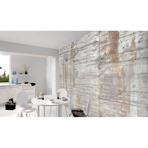 Fototapete Vlies Premium Beton-Wand Stein grau braun