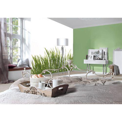 Photo Non-Woven Wallpaper Gras Floral green white