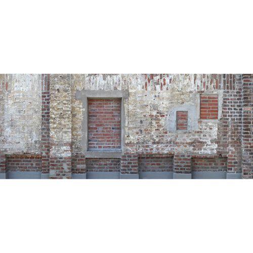 Fototapete Vlies Premium Backsteine Mauer creme rot