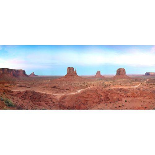 Photo Non-Woven Wallpaper Desert Rocks blue brown