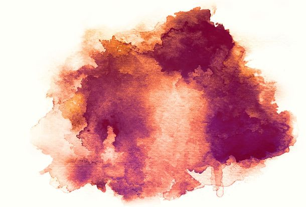Photo Non-Woven Wallpaper Watercolour rose red purple