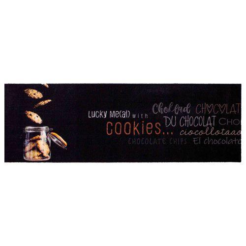 Küchenläufer Küchenteppich Cookies | schwarz waschbar