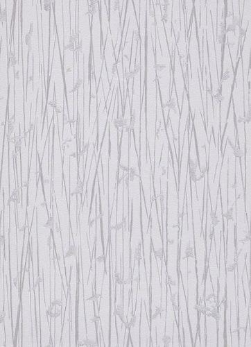 Non-woven wallpaper bamboo stripes grey 10123-01
