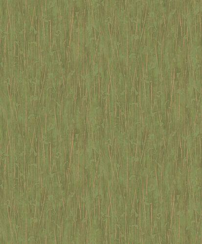 Non-woven wallpaper bamboo stripes green brown 10123-07
