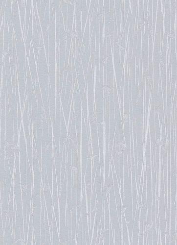 Non-woven wallpaper bamboo stripes blue-grey 10123-31