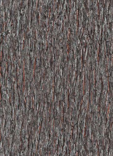 Non-woven wallpaper bark grey brown 10124-11