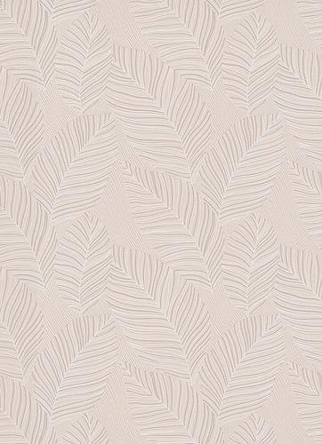 Non-woven wallpaper palm leaves cream 10125-02
