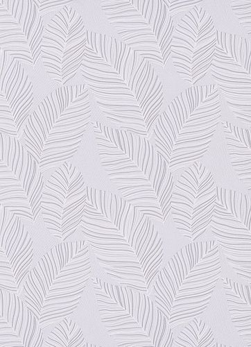 Non-woven wallpaper palm leaves grey-blue 10125-31