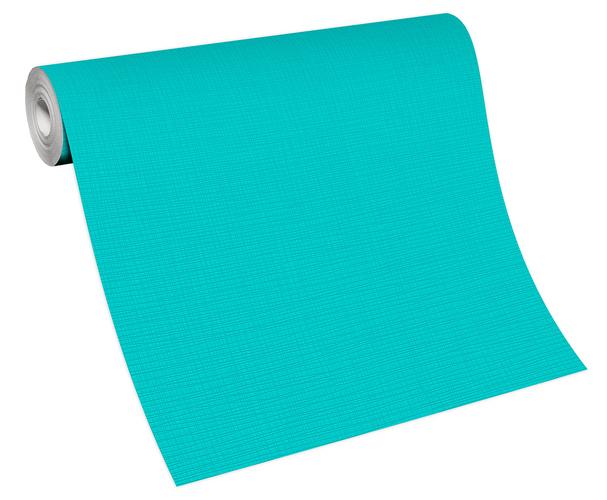 Non-woven wallpaper plain turquoise 13082-18