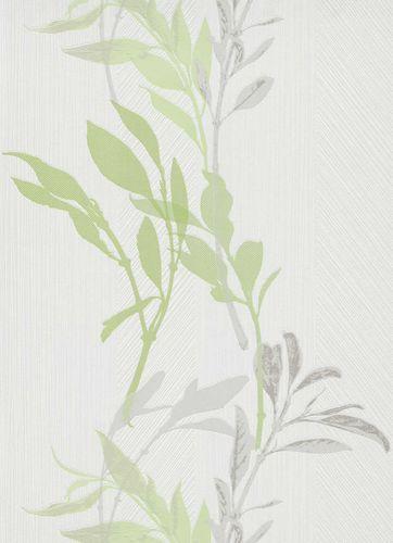 Vliestapete Florale Zweige weiß grün grau 10138-07