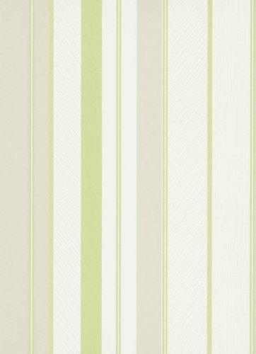 Vliestapete Streifen weiß grün grau 10139-07