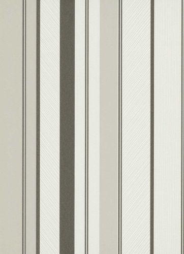 Non-woven wallpaper stripes white black grey 10139-10