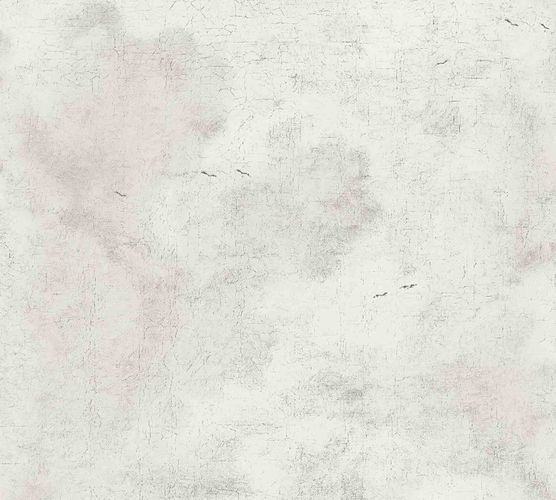 Non-woven wallpaper plastered wall white 37649-4