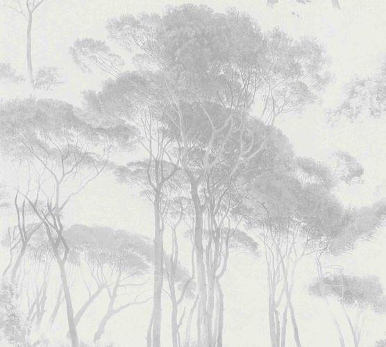 Vliestapete Bäume weiß grau 37651-3