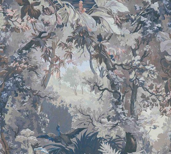 Vliestapete Wald Gemälde grau braun blau 37652-3