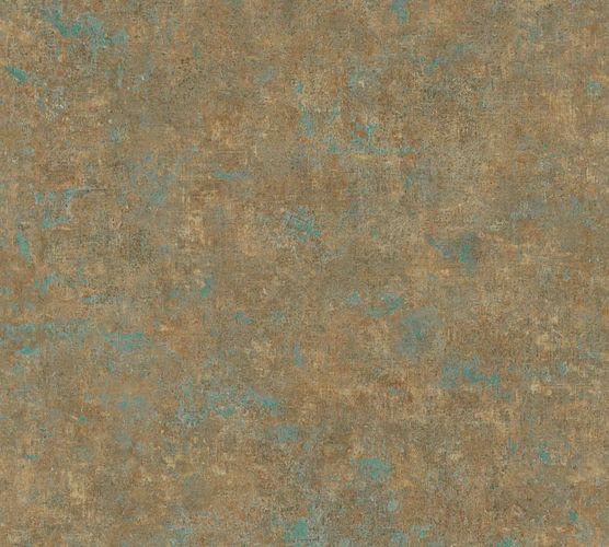 Vliestapete meliert Uni bronze blau 37655-9