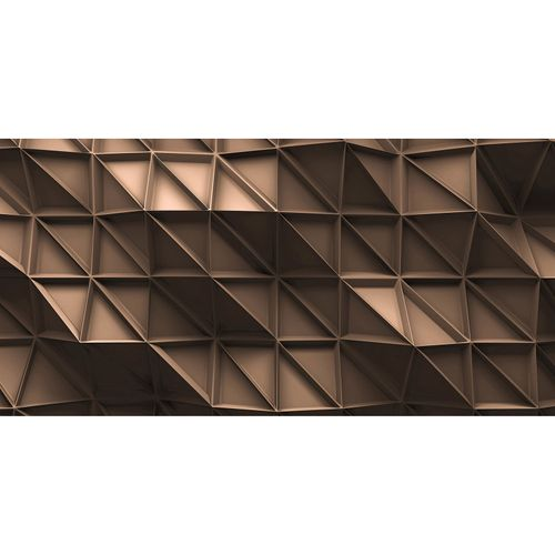 Photo Wallpaper 3D Triangles beige brown DD108880