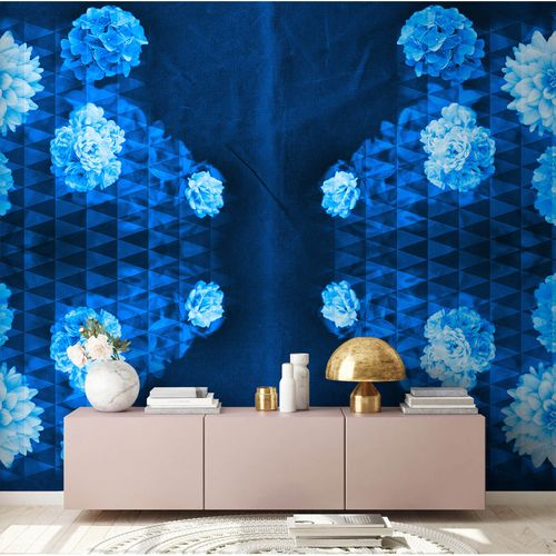 Photo Wallpaper Floral blue AS Creation DD109045