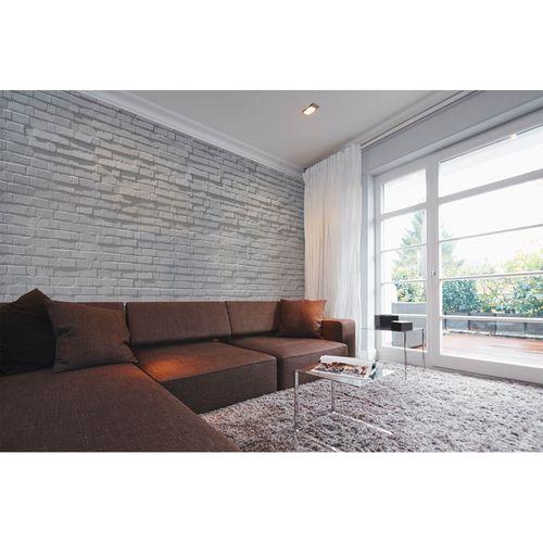 Fototapete Vlies Premium Mauer Ziegelsteine Wand grau