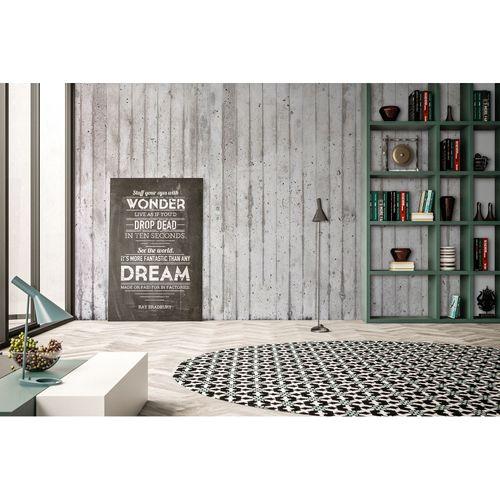 Fototapete Vlies Premium Beton Streifen Wand grau