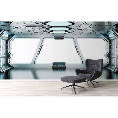 Photo Wallpaper Spaceship grey black DD109130
