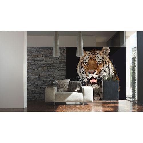 Photo Wallpaper Tiger Polygon beige AS Creation DD108920