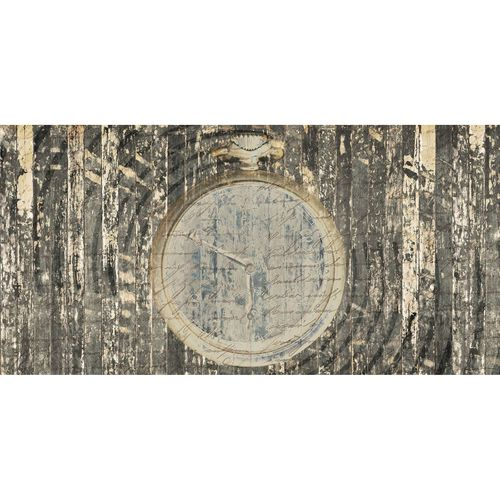 Photo Wallpaper Clock Wood beige brown DD108960