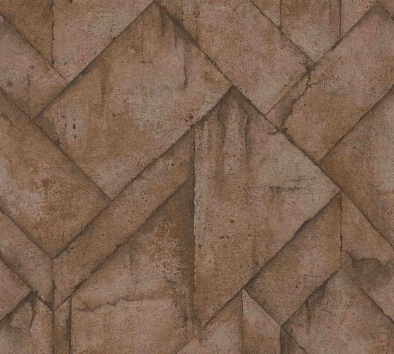 Wallpaper non-woven graphic concrete brown 37741-1