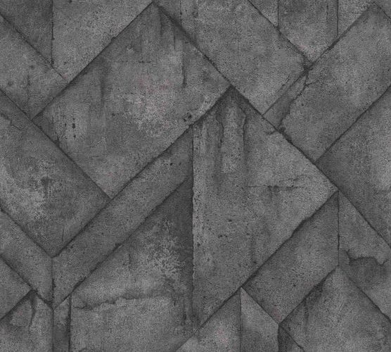 Wallpaper non-woven graphic concrete anthracite 37741-2