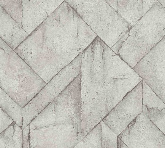 Wallpaper non-woven graphic concrete grey 37741-3