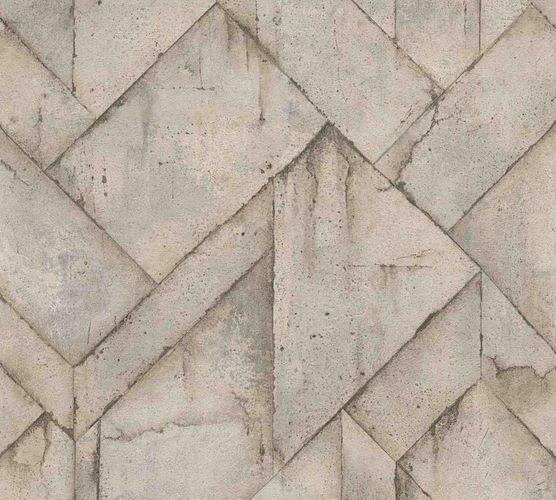 Wallpaper non-woven graphic concrete greige 37741-4