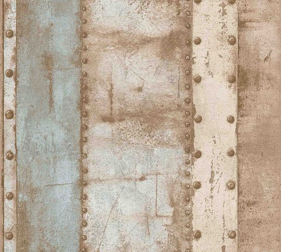 Wallpaper non-woven iron optic beige 37743-1