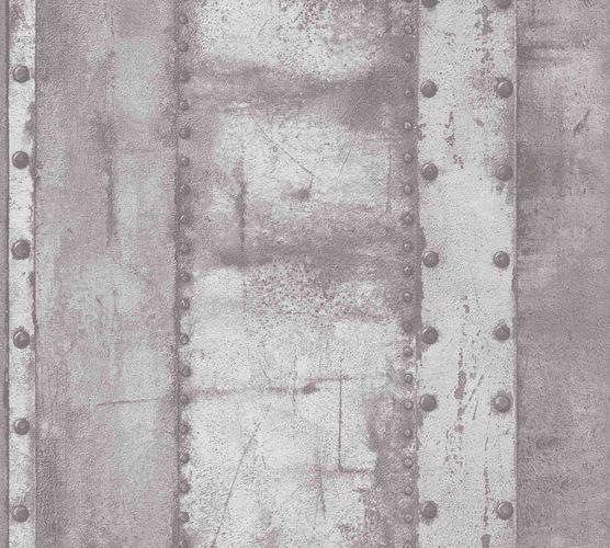 Vliestapete Eisen Optik grau 37743-2
