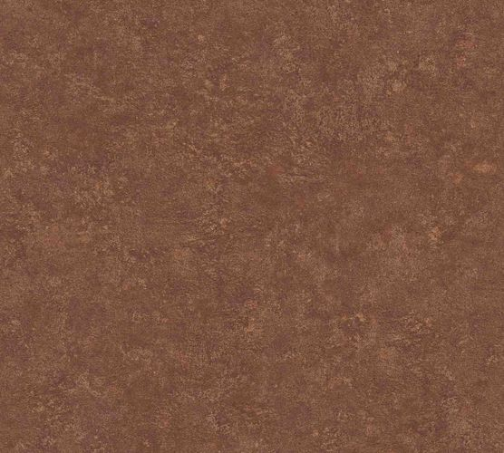 Wallpaper non-woven plaster optic brown gold 37744-1