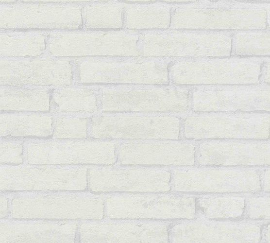 Wallpaper non-woven stone wall light grey 37747-4