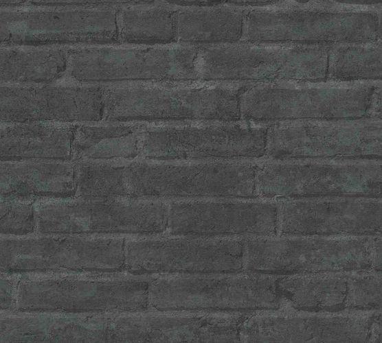 Vliestapete Steinwand anthrazit 37747-5
