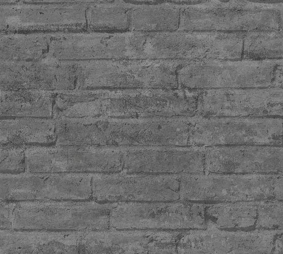 Vliestapete Steinwand grau 37747-6