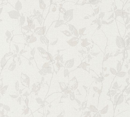 Non-Woven Wallpaper Leaves brown-grey livingwalls 36397-4
