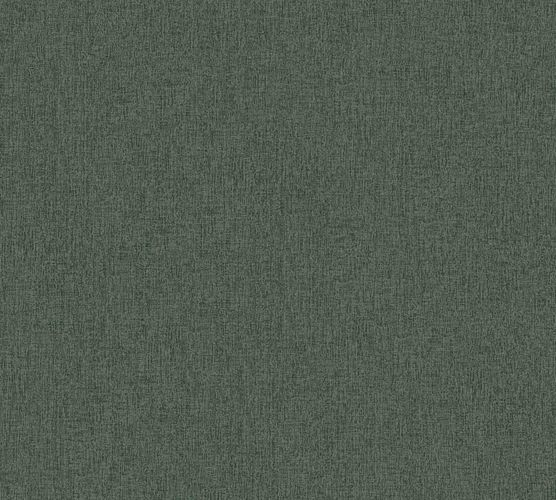 Non-woven wallpaper plain green 37521-8