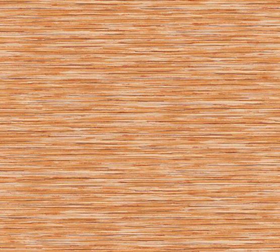 Non-woven wallpaper stripes orange brown white 37525-1