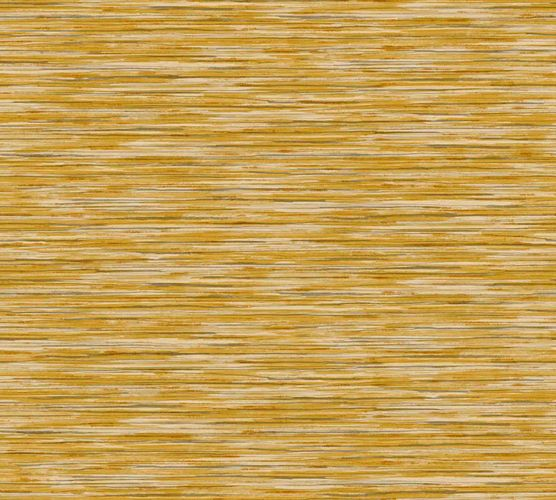 Non-woven wallpaper stripes yellow grey 37525-2