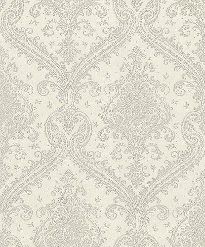 Vliestapete Rasch Barock creme-weiß Metallic 420517