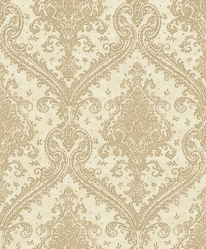 Vliestapete Rasch Barock beige gold Metallic 420524